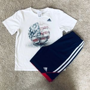 Boys ADIDAS athletic outfit
